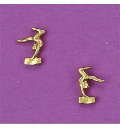 boucles d'oreilles gymnaste à la poutre