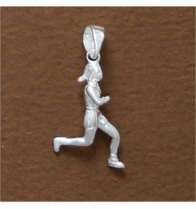 pendentif course à pied féminine
