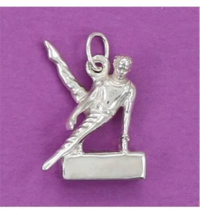 pendentif gymnaste artistique masculin au cheval d'arçon