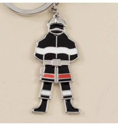 porte-clefs pompier en uniforme