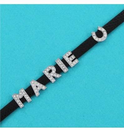 bracelet strass personnalisable