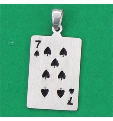 4854p7 pendentif carte 7 de pique