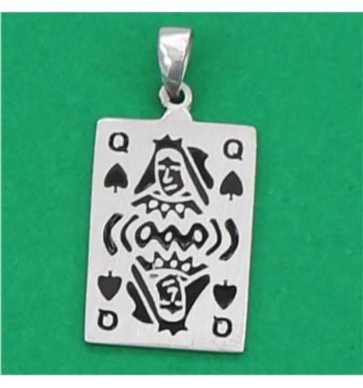 4854pq pendentif carte dame de pique