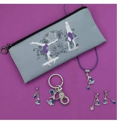 collection de 5 bijoux gymnaste bleue