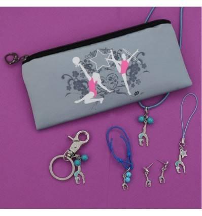 collection de 6 bijoux gymnaste souplesse bleue
