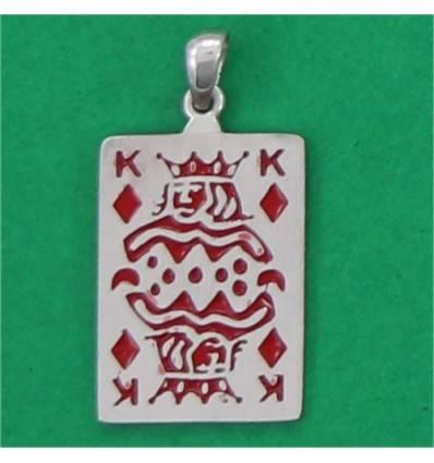 pendentif carte roi de carreau