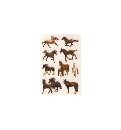 autocollants chevaux brillants au galop