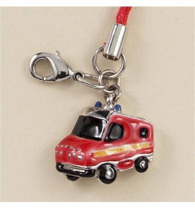 bijoux de sac charm camion de pompier rouge