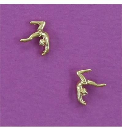 boucles d'oreilles gymnaste en cambrée arrière