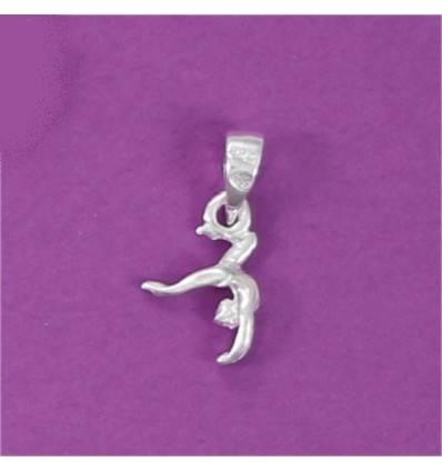 mini pendentif gymnaste cambrée arrière