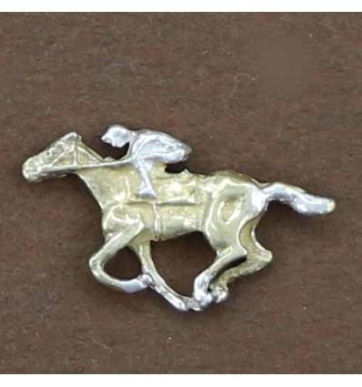 pin's cheval de course