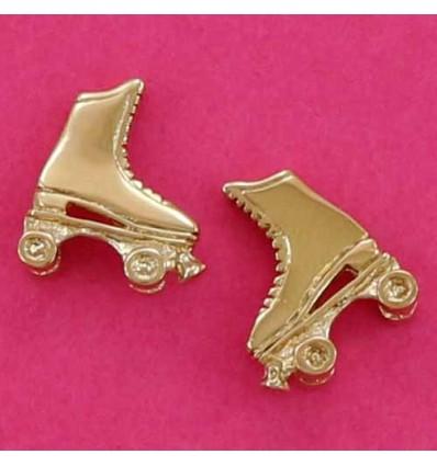 boucles d'oreilles patins à roulettes ras d'oreilles