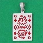 Pendentif carte à jouer carreau