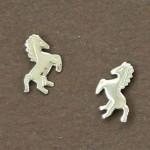 Boucles d'oreilles or cheval equitation