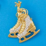 Broche patinage et pin's patin